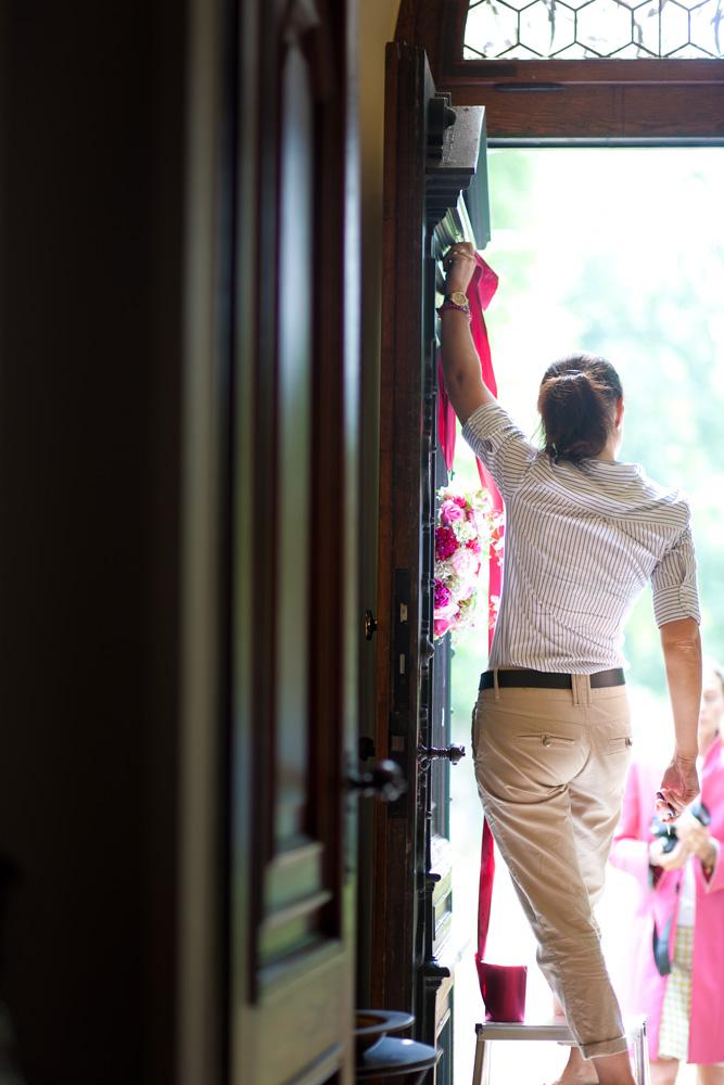 Kranz an der Tür